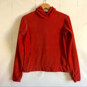 Vintage Nike ACG Red Therma-Fit Hooded Fleece